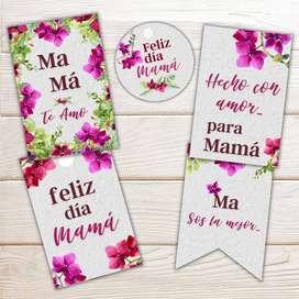 Tags imprimibles para el dia de las madres