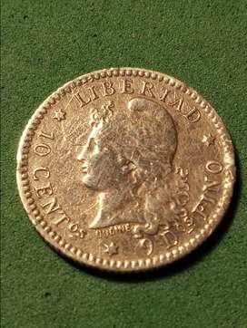 #Moneda Argentina 10 centavos 1883