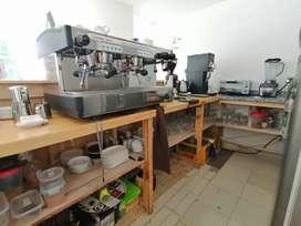 Maquina de espresso profesional de dos grupos faema E98