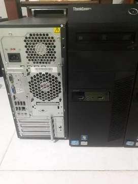Torre lenovo core I5 2da Gn 4gb ram disco de 320gb como nuevo cero fallas garantía domicilio