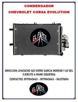 CONDENSADOR RADIADOR DE AIRE ACONDICIONADO CHEVROLET CORSA EVOLUTION