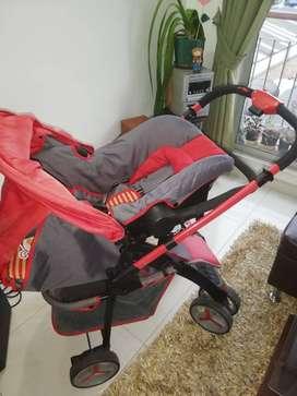 Coche paseador + silla de carro en 1