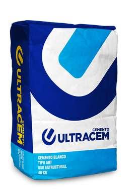 Cemento Blanco Uso Estructural - tipo ART  40 kilos - ULTRACEM