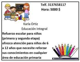 Refuerzo escolar para niños de primaria