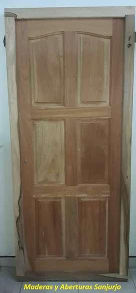 Puerta Entrada de Cedro 6 tableros