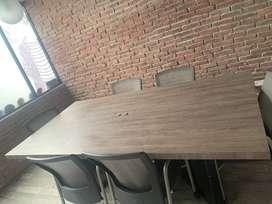 2 Mesas para sala de Juntas en madera
