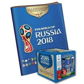 Caja Láminas x 104 sobres Panini Mundial Rusia 2018 Album Envío Gratis