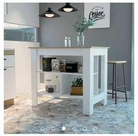 Mueble auxiliar para cocina Salgar - Blanco duna