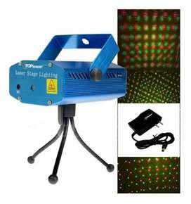 Laser Reflector Portátil Discoteca Fiestas Puntos Y Navidad