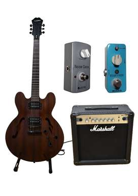 Pack Guitarra EpiPhone Dot + Amplificador Marshall + Pedales
