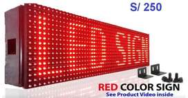 Letrero Led Programable Rgb Red Color