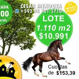 QUINTAS VACIONALES EN VENTA, A 40 MINUTOS DE MANTA, LOTES DESDE 1.000M2,VALOR M2: 9,90 USD,CON 100 USD FRIEMAS PROMESAS1