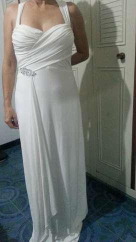 Venta de Vestido de Gala Blanco Americano Talla 12