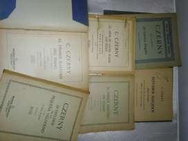 PARTITURAS: CZERNY x 6 libros de estudio de piano