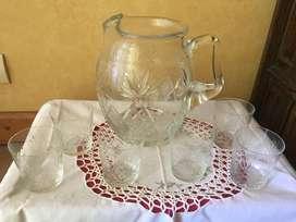 1 Ponchera Cristal 6 vasos