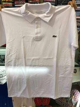 Camiseta Tipo Polo Lacoste Para Hombre Blanca L Promo!
