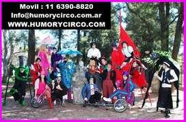 CIRCO PARA EVENTOS / HUMORYCIRCO COM /  SHOWS CIRCENSES PARA FIESTAS
