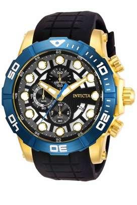 Reloj Hombre Invicta Sea Hunter Crono Dorado Azul 28272