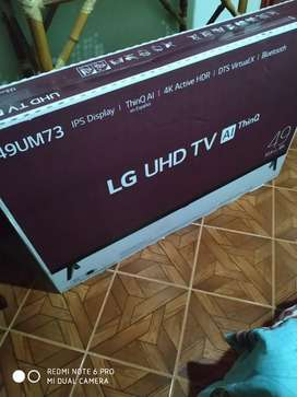 Se vende TV LG nuevo  sellado con factura de tienda Falabella
