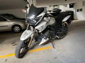 Vendo Moto Deportiva Apache Rtr Color Blanco