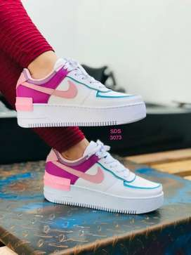 Zapato Tennis Deportivo Nike Force One Doble Piso Para Mujer