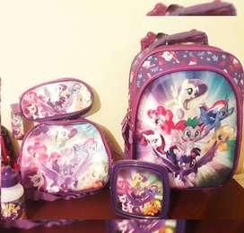 Mochila my little pony mas lonchera y cartuchera de regalo