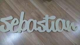 nombre letras de madera mdf arte country decoracion infantil cajas de madera