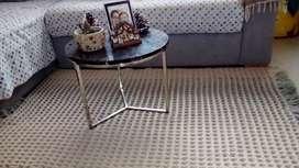 Lindo tapete tejido para sala