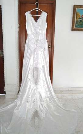 Hermoso Vestido de Novia para Matrimonio Talla M - L