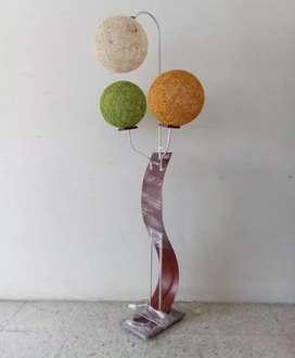 Lámpara de 3 bolas en fique con bombillo