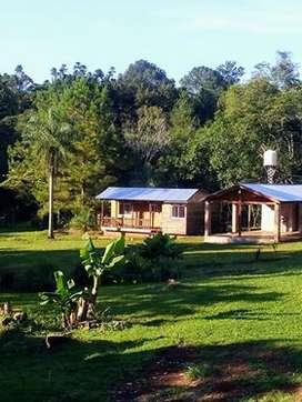 cabaña con terreno media hectarea eldorado misiones