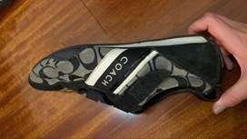 Tennis COACH ORIGINALES talla 39 negros con gris