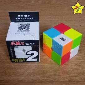 Cubo Rubik Qidi S 2x2 Qiyi - Stickerless - Negro