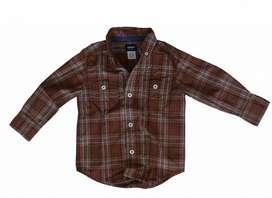 Camisa niño a cuadros Carters, Talla 2