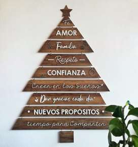 Árbol de navidad para Pared en madera