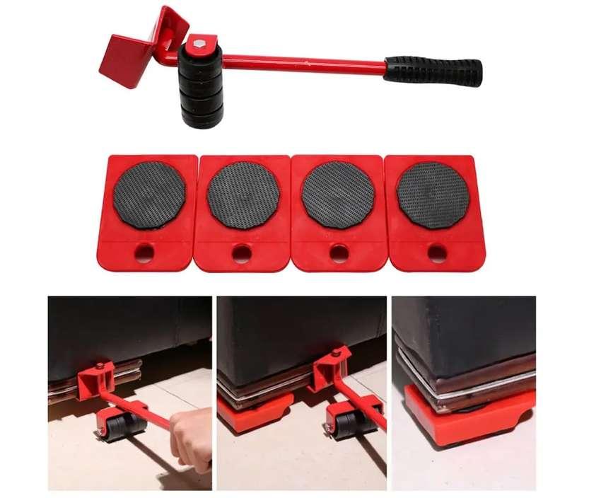 Bases con ruedas y palanca para mover fácilmente los muebles ref 582