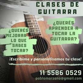 Clases de Guitarra! Aprendé a tocar o mejorá lo que ya sabes.