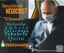 Transporte puerta a puerta Quito Ambato Riobamba