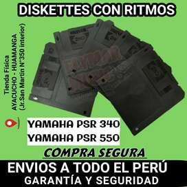 DISKETTS CON RITMOS PARA YAMAHA PSR 340 Y PSR 550