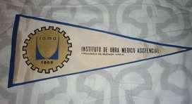 ANTIGUO BANDERIN IOMA INSTITUO DE OBRA MEDICO ASISTENCIAL 1968 BUENOS AIRES