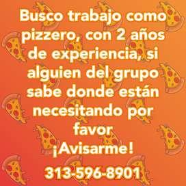 Busco Trabajo de Pizzero