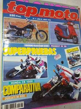 revista TOP MOTO  nro 7 año IV julio 93 honda ducato suzuki+