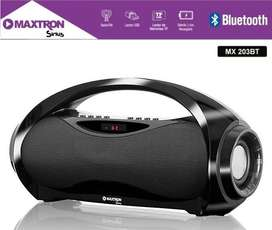 PARLANTE PORTATIL SIRIUS MX203BT Maxtron / bluetooth /radio / usb