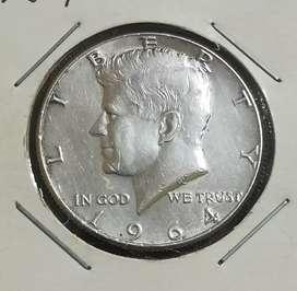Moneda de plata J.F. Kennedy