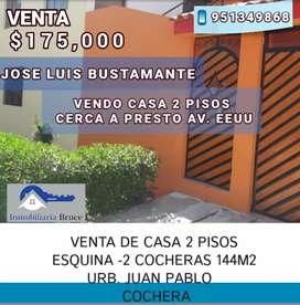 JOSE LUIS BUSTAMANTE VENDO CASA AMPLIA DOS PISOS