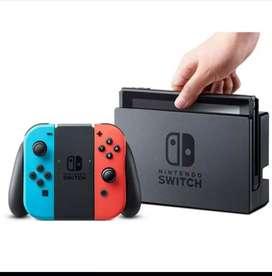 Nintendo switch 32 GB rojo neón azul neon