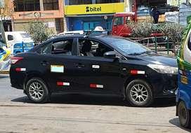 Se alquila taxi estación a gas GLP toyota yaris 2016 permisos lima y callao