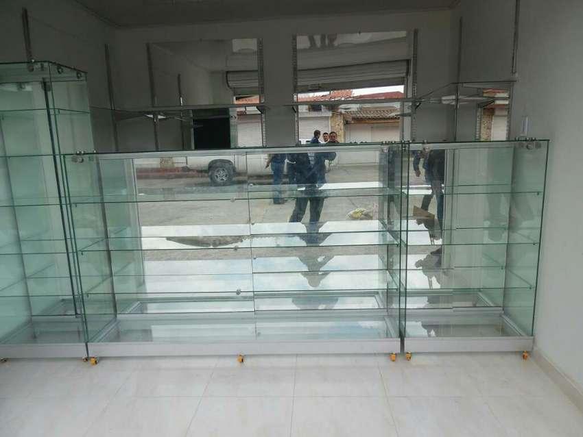 Vitrinas en Vidrio Y Aluminio 0