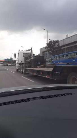 Transporte camabaja 3 ejes maquinaria