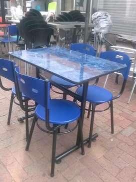Sillas y mesas para restaurante bar cafetería frutería heladería